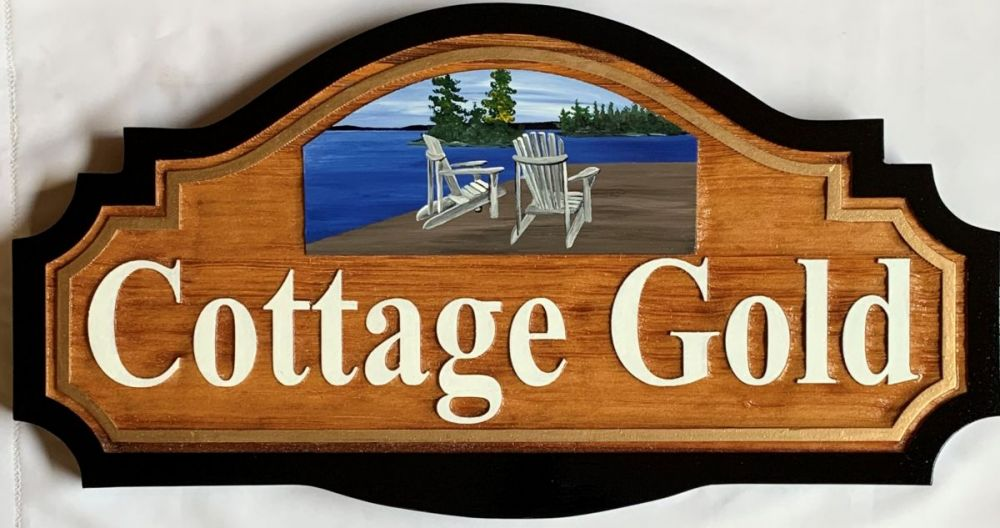 cottage, cedar, sign