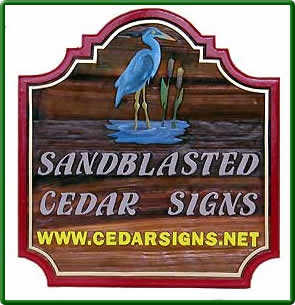 Canadiana Cedar Signs